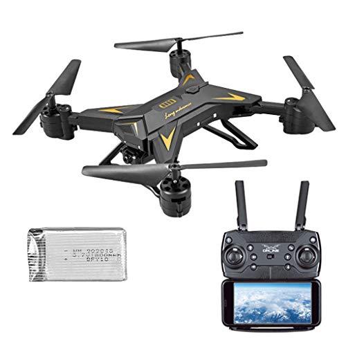 CHshe Drone Pliable Avec Caméra, Rc Quadricoptère Pliable Avec 1080P 5.0Mp Hd Caméra Wifi Fpv A Mené Drone Léger Sans Tête de Secousse de Selfie de Mode 3D Altitude Fixe Avec Longue Batterie 1800Mah