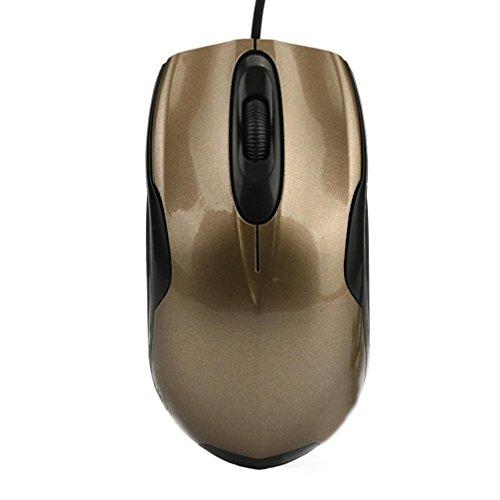 USB mit Kabel, Spiele-magiyard Gaming-Maus 1600dpi USB Kabel Optische Maus für PC Notebook gold Lowrance Pc