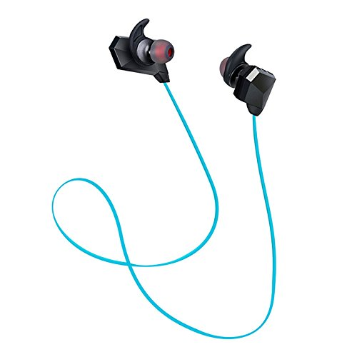 Aprigy - Csr Ohrmuschel ¨¦couteur Drahtlose Bluetooth-Kopfh?rer Earbud Stereo Headset Bass-Kopfh?rer mit Mikrofon Ohrmuschel Fone De ouvido [Blau ]