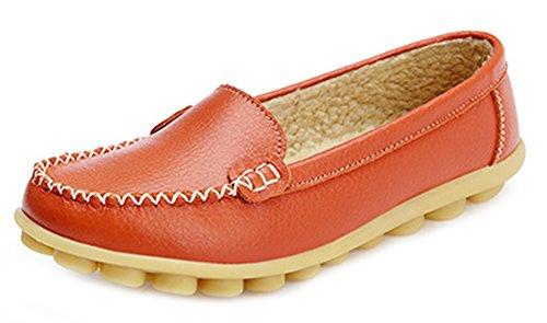 Mocassini Indossare Comodo Bassi Arancione Easemax Da Donna q6pwxPT