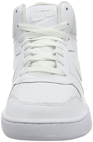 Nike Wmns Court Borough Mid, Scarpe da Basket Bambina Bianco