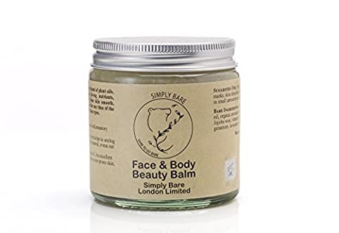 100 % Organic Face & Body Beauty Balm- Contains the Best anti aging and healing properties including Argan, Avocado and Pomegranate Oil high in Vitamin A, C and E with additional pure essential blend of Geranium, Lavender and Rose Oil , aids acne prone skin, stretchmarks and scarring, an excellent night time