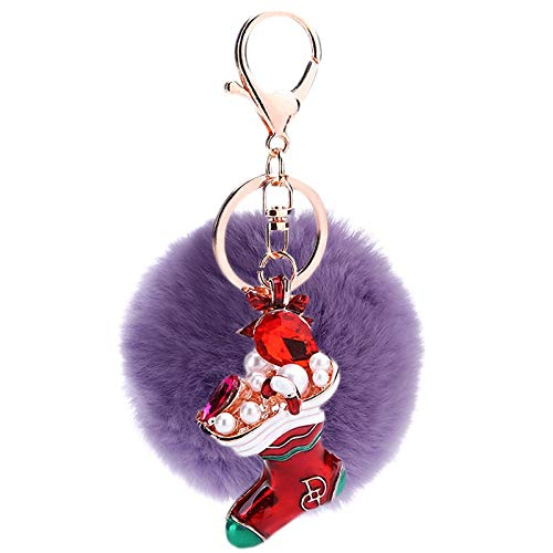 ISAAC ENGLAND Kreative Nette Weihnachten Anhänger Schlüsselbund Punkt Diamant Schmuck an Freunde 2 Pcs