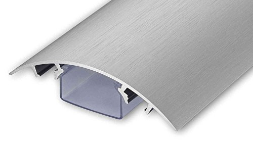 TV Design Aluminium Kabelkanal Edelstahl gebürstet Look in verschiedenen Längen von ALUNOVO (Länge: 120cm)