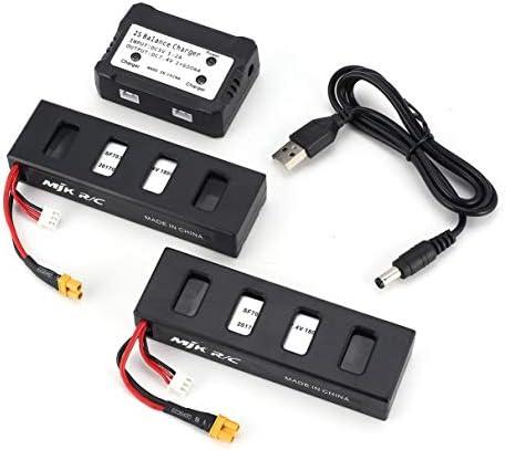 2pcs XT-30 2S 7.4V 1800mAh batterie Li-Po rechargeable avec chargeur 2 en 1 pour drone Quadcopter RC MJX Bugs 3 B3 Accessoires | Le Roi De La Quantité