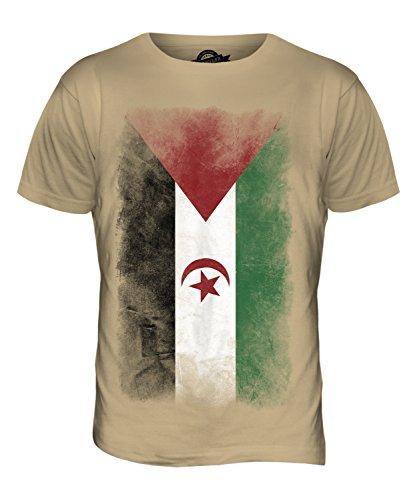 CandyMix Westsahara Verblichen Flagge Herren T Shirt Sand