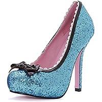 Leg Avenue 5001 - Principessa 5 pollici di scarpe glitter Pompa, formato 8, blu