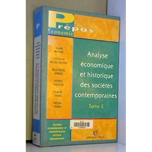 Analyse économique et historique des sociétés contemporaines, tome 2