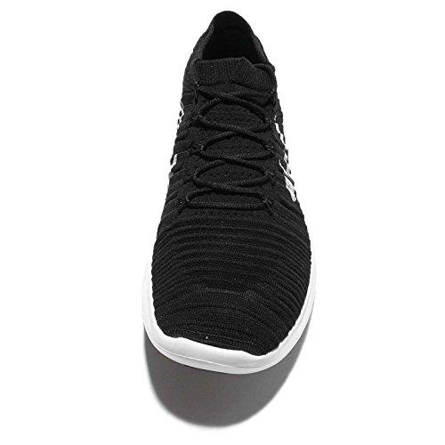 Nike Free Rn Motion Flyknit, Chaussures de Running Entrainement Homme Noir (noir / blanc - électrique - gris foncé)