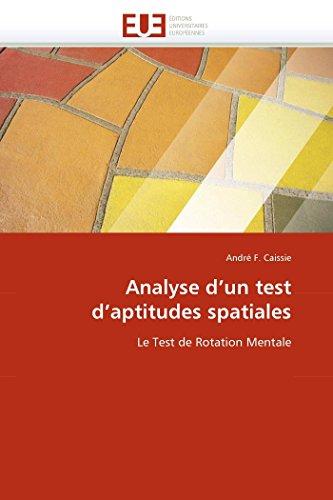 Analyse d\'un test d\'aptitudes spatiales: Le Test de Rotation Mentale (Omn.Univ.Europ.)