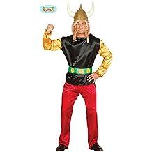 Faschings-Kost/üme Geburtstags-Geschenk Erwachsene mit Helm und Z/öpfen! TO08 Gr Fasching Karneval Gallier-Faschingskost/üm Gallier-Kost/üm Gallier-Kost/üme M