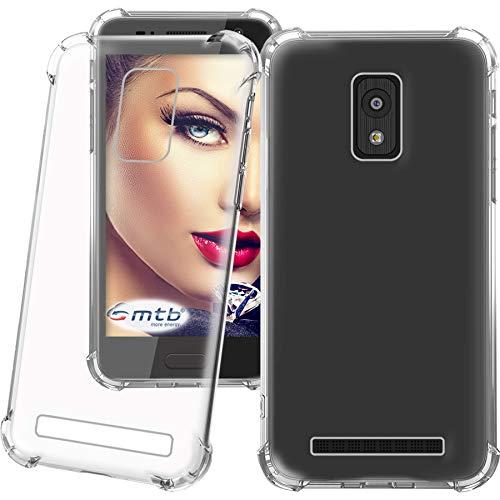 mtb more energy® Schutz-Hülle Anti Shock für Meizu 16th (6.0'')   verstärkte Ecken   transparent   TPU Silikon Case Cover Tasche