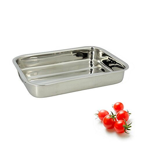 TheKitchenette - 4615221 Plat Rectangle Inox, 35 cm