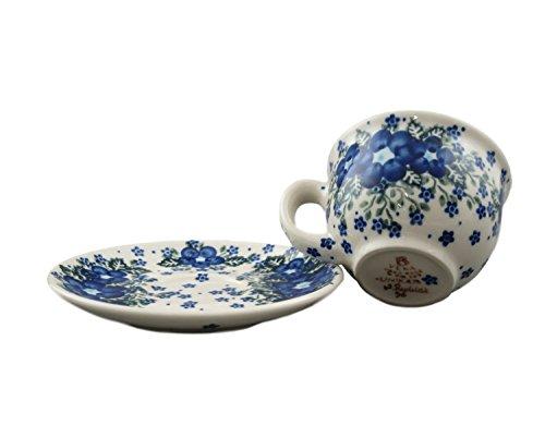 Estilo de Boleslawiec Pottery pintado A mano polaco Vika taza de cerá