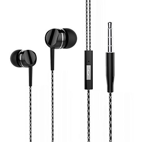 In-Ohr Kopfhörer, Boostek S340S Verdrahtete Ohrhörer mit Mikrofon Schwarz In Linie-Kontrolle In-Ohr Kopfhörer Stereo Kopfhörer