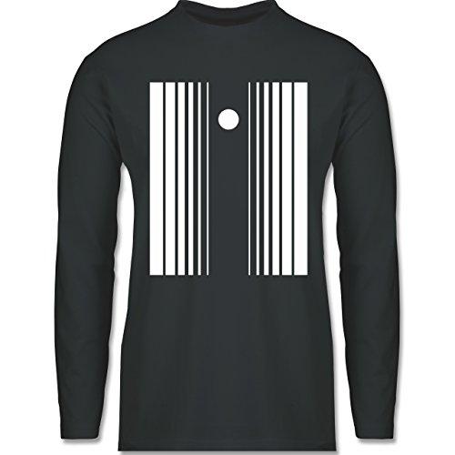 Karneval & Fasching - Doppler Effekt - M - Dunkelgrau - BCTU005 - Longsleeve / langärmeliges T-Shirt für Herren