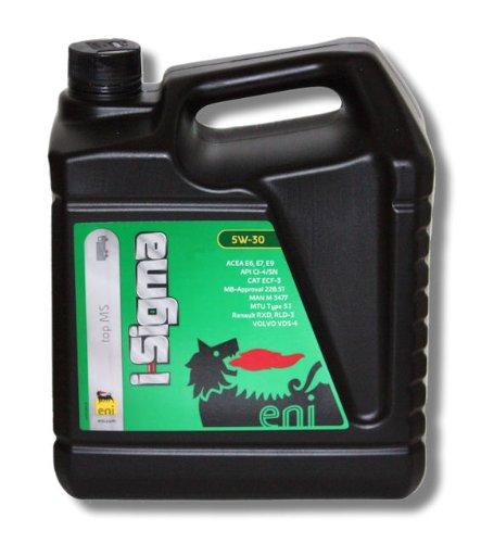 eni i-Sigma top MS 5W-30 Motoröl für Nutzfahrzeuge -- MB-Freigabe 228.51 -- MAN -- MTU -- VOLVO -- Cat -- Renault -- Deutz -- Mack -- 5 Liter