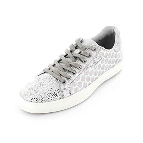 Tamaris  23666-114, Baskets pour femme 114°white/silver Dot