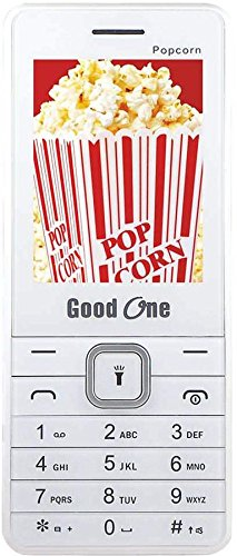 Goodone Popcorn 2.4 Inch Display Keypad mobile With Dual Sim (GSM + GSM) 0.3MP Rear Camera With LED Flash 2200 mAh Big Capacitive Battery Wireless FM Radio 2.0 Bluetooth & GPRS Support MP3 & MP4 Player Multiple Language Phone Memory Card Support & Expandable up to 16GB (White + Silver) offer