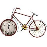 LYXPUZI Amerikanische alte stumme Wanduhr/Fahrraduhrfarbenschmiedeeisenwohnzimmer-Dekorationsuhr