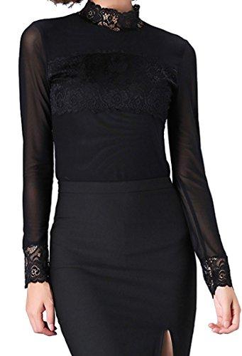 helan-womens-lace-floral-neck-lace-decoration-basic-soft-blouse-uk-14-black