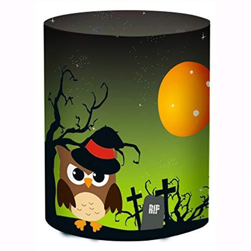 Tischlichter aus Transparentpapier - Halloween Eulen grün - 5 Lichter
