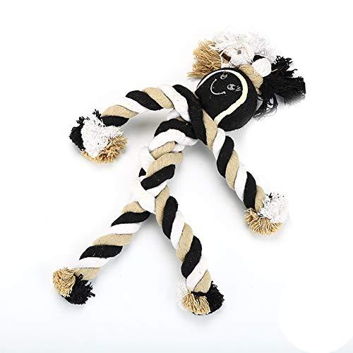 1 stück Seil Haustier Spielzeug Baumwolle Fischgrät Tennis Kauen Spielzeug Welpen Kauen Hund Seil Spielzeug für Kleine Hunde -
