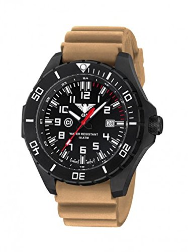 KHS Tactical Mens Watch Landleader Black Steel KHS.LANBS.DT