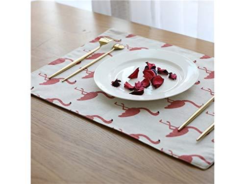 Nappe De Cuisine Patrons de motif de flammes de rectangle de coton pour l'utilisation extérieure de jardin de cuisine à la maison (rose) Décoration de table