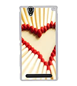 PrintVisa Matchstick Love High Gloss Designer Back Case Cover for Sony Xperia T2 Ultra :: Sony Xperia T2 Ultra Dual SIM D5322 :: Sony Xperia T2 Ultra XM50h