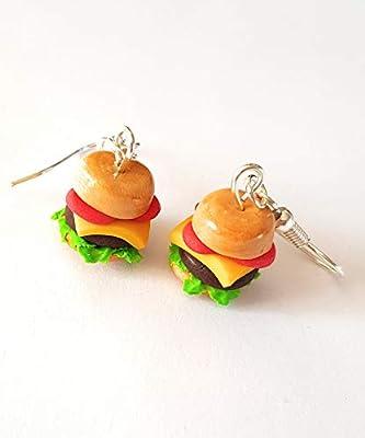 boucles d'oreille burgers gourmands fimo hamburgers