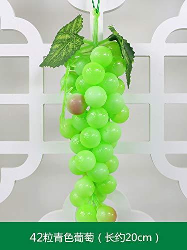 KayMayn 1 Bündel von 60pcs simulierten Kunststoff Obst Trauben String Dekoration, künstliche Trauben dekorative große simulierte Trauben aus Kunststoff Obst für Home Party Decor (grüne Traube)