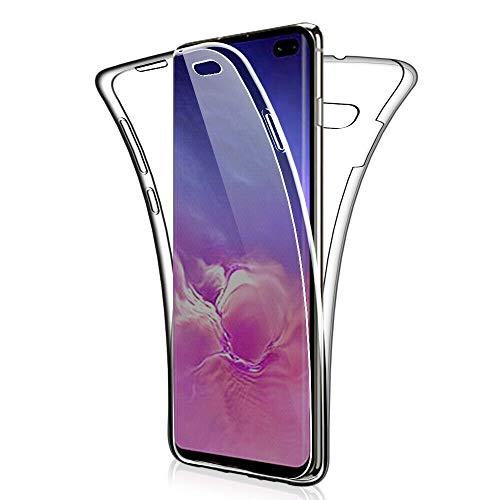 CoverKingz Handyhülle für Samsung Galaxy S10+ (Plus) Schutzhülle 360° Full Silikon Case Rundumschutz Cover, Transparent Samsung Super-slim