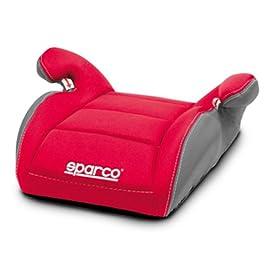 Sparco SPC3002RS3CM Seggiolino di Rialzo per Bambini, Rosso, 3 cm