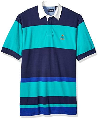 Chaps Herren Big and Tall Classic Fit Fashion Cotton Mesh Polo Shirt Poloshirt, Newport Navy Multi, Large Hoch -