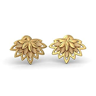 BlueStone 22k (916) Yellow Gold Padmalakshmi Stud Earrings
