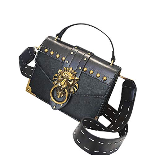 Moserian Womans Bag Womans Fashion Metall Lion Head Schultertasche Mini Square Umhängetasche