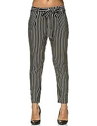Amazon.es  blanco y negro - 38   Pantalones   Mujer  Ropa a5c27f46ede3