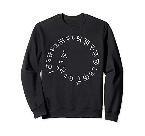 Spiral alphabet Hindi Buchstabe Lustig Indien ABC Symbol Sweatshirt