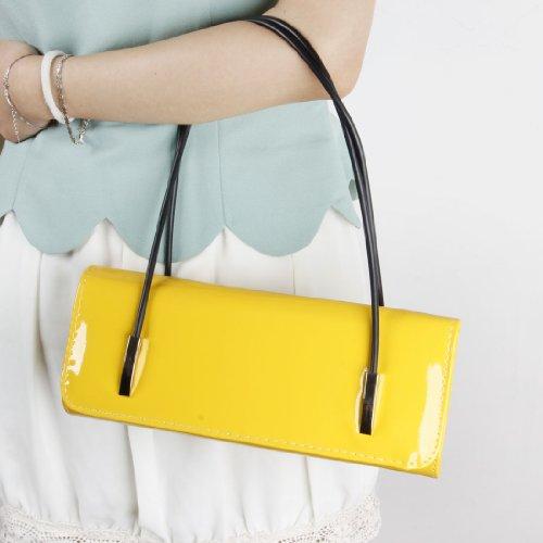 BMC - Borsetta clutch da donna in similpelle con tracolla Giallo limone Obtener Nuevos Pu7T8WxB
