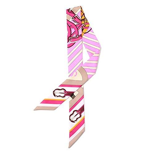 TININNA donna retrò annata sciarpa di seta nastro di Hairband Fasce capelli Fascia Headwear S016 S011