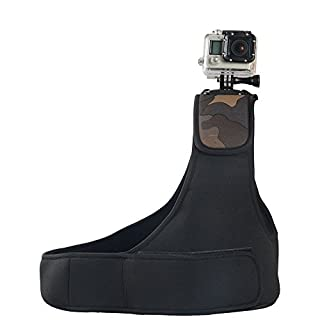 Navitech Verstellbare Neopren-Einzel-Schulterriemen Harness für ACCFLY H9R Ultra 2.0 Inch 170 Degree 12MP Waterproof WiFi Sport Camera