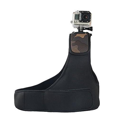 Navitech Verstellbare Neopren-Einzel-Schulterriemen Harness für SJCAM SJ4000WIFI Action Camera