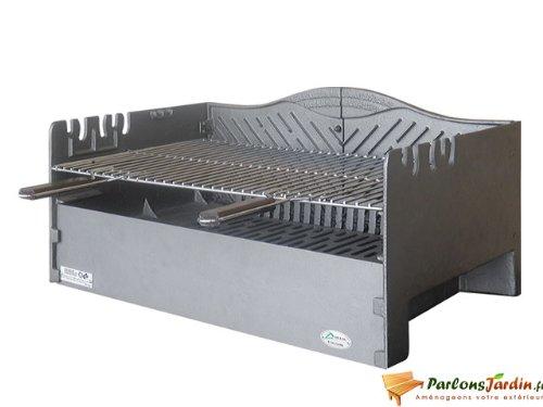 Barbecue à charbon de bois à poser en fonte Vauvert