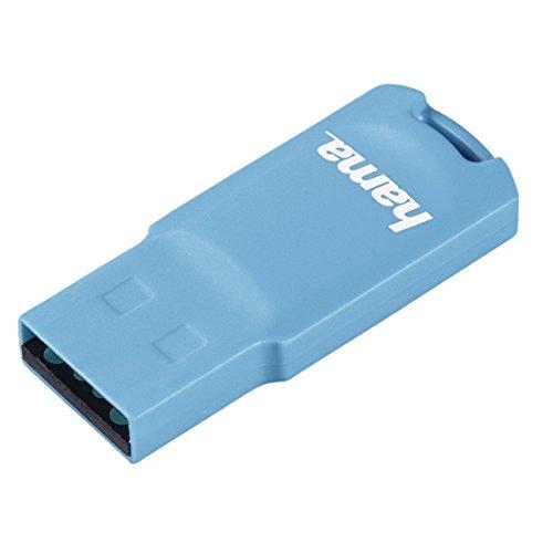 Hama USB Stick (USB 2.0, 32 GB, 15MB/s, Speicherstick mit Öse für Schlüsselanhänger) pastell blau