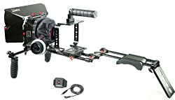 FILMCITY Shoulder Rig Kit for Blackmagic Cinema Camera / Production Camera 4k (FC-05) with Cage Matte Box Follow Focus & Free Accessories | Best Affordable BMCC Kit