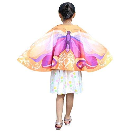 VRTUR Schmetterling Kind Kinder Jungs Mädchen Bohemien Drucken Schal Pashmina Kostüm Zubehörteil Karneval Geschenk Großer Abverkauf