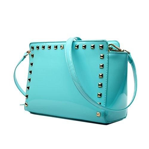 Miss Lulu, Borsa a spalla donna 1506 Blue