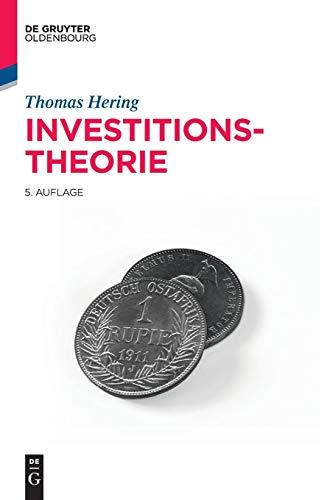 Investitionstheorie (Lehr- und Handbücher der Wirtschaftswissenschaft)