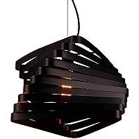 Gorkuor Leuchter Araña de Hierro Forjado Minimalista Moderna Araña de Jaula de pájaros Hueca Tridimensional para